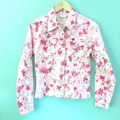 I just discovered this while shopping on Poshmark: Floral Pink Jacket. Check it out! Price: $26 Size: M