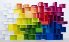 24 exemples d'étagères originales créées avec le système Cubit