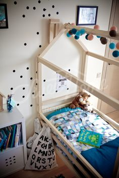 bed twin kids bed fun kids bed full bed frame full platform bed 4 post bed full size poster be Full Size Canopy Bed, Full Bed Frame, King Bed Frame, Modern Kids Beds, Cool Beds For Kids, Ikea Kids Bedroom, Master Bedroom, Bedroom Decor, 4 Post Bed