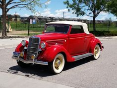 Bid for the chance to own a 1935 Ford Model 48 Deluxe Cabriolet at auction with Bring a Trailer, the home of the best vintage and classic cars online. Driveway Repair, Asphalt Driveway, Lifted Ford Trucks, Abandoned Cars, Classic Cars Online, Bugatti Veyron, Ford Models, Land Rover Defender, Old Cars