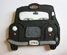 Black Cab Cookie by ConsumedbyCake - just incredible!