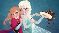 """Check out this breath-taking Frozen fan art from a bevy of DeviantArt artists."""