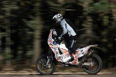 KTM 450RR Dakar bike ridden