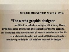 alvin lustig (this is profound!)