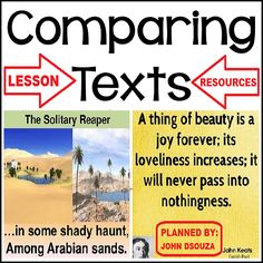 This resource contains everything you need to get going with teaching text comparison in your classroom.
