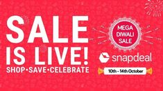 Save Thrice With Snapdeal's Mega Diwali Sale Offers Diwali Sale, Ecommerce, E Commerce