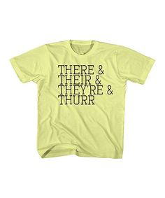 Banana There Their Theyre Thurr Tee - Toddler & Kids | zulily