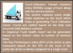 Truck Utilization - System maintains all the truck information such as odometer, services, parts and lubricant cost