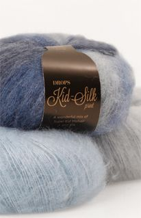 A luxurious, light brushed yarn in an exclusive mix of mohair super kid and mulberry silk, DROPS Kid-Silk is feather light, and will give garments a. Knitting Stitches, Knitting Yarn, Laine Drops, Drops Kid Silk, Garnstudio Drops, Lucet, Yarn Thread, Drops Design, Unusual Gifts