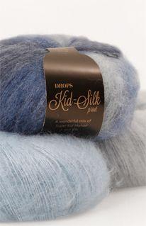 Kleurenoverzicht voor DROPS Kid-Silk ~ DROPS Design Ook goed toe te passen + draad van andere kwaliteit