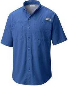 NEW Columbia PFG Low Drag Omni-Shade Mint Green Short Sleeve Shirt Men/'s L