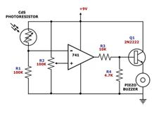 Activated #BuzzerCircuit is an audio signalling device, which may be mechanical, electromechanical, or Piezoelectric.