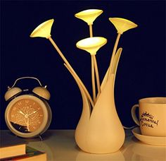 Samgo Vase Lamp Led Lighting Energy Saving Night Light Fashion Design Adorable Gift Sensor Table Lamp Home Accent Bedside Lamp Purpleyellowgreen Yellow ** Check out the image by visiting the link. (Note:Amazon affiliate link)