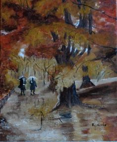 Séta az esőben. ( Magántulajdon) Techno, Painting, Art, Art Background, Painting Art, Kunst, Paintings, Performing Arts, Techno Music