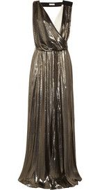 Vionnet Metallic silk-blend and cady gown