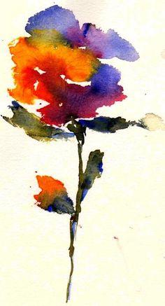 Wildflower Painting - Wildflower Fine Art Print - Anne Duke