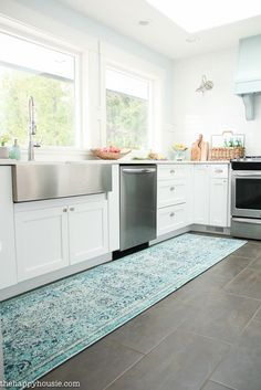 kitchen runner rugs trashcan friday s finds fab affordable overdyed design pinterest rug and