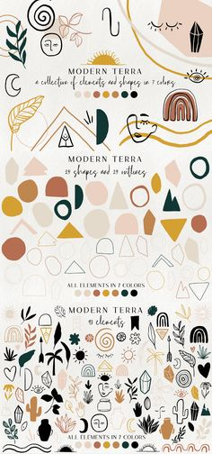 modern abstract design elements - floral illustrations, geometric clipart, terracotta minimalist branding graphics, shapes, crystals Best Picture For japanese Graphic Design For Your Taste You ar Illustration Blume, Pattern Illustration, Graphic Design Illustration, Shape Design, Pattern Design, Web Design, Design Bauhaus, Branding, Japanese Graphic Design