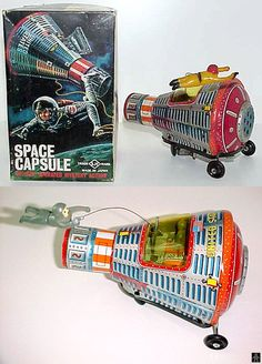 Space Capsules - SPACE CAPSULE VERSION 1 - HORIKAWA - JAPAN - ALPHADROME ROBOT AND SPACE TOY DATABASE