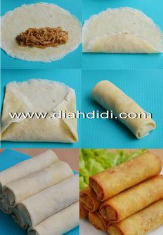 Lumpia Semarang dan Sejarahnya.. Appetizer Recipes, Snack Recipes, Dessert Recipes, Cooking Recipes, Unique Recipes, Indian Food Recipes, Roti Canai Recipe, Malay Food, B Food