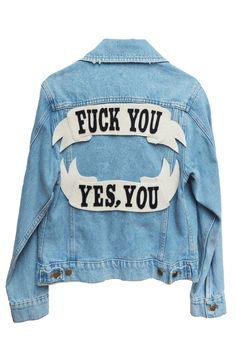 Make it yours! Custom our classic jean jacks! Button closure at front, chest pockets and relaxed fitting denim jacket with exclusive felt patches a...