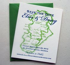 destination map save the date