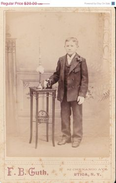 Spring Sale 2 Antique Cabinet Card Photos Children First by Sfuso, $18.00
