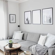 60 Elegant Scandinavian Living Room Design Ideas - Home Design Trendy Living Rooms, Living Room Scandinavian, Living Room Designs, Elegant Living Room, Living Decor, Living Room Grey, Neutral Living Room, Room Design, Scandinavian Living