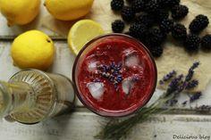 Ostružinová limonáda s levandulovým sirupem