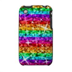 Glitz Rainbow iPhone 3G case horizontal by jessperry
