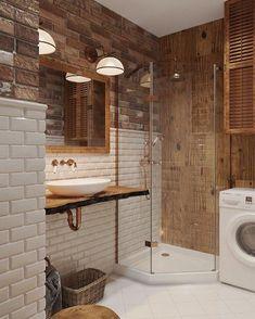7 Appreciate Tips AND Tricks: Half Bathroom Remodel Sconces bathroom remodel home improvements.Very Small Bathroom Remodel. Bathroom Design Small, Simple Bathroom, Bathroom Interior Design, Modern Bathroom, Loft Bathroom, Narrow Bathroom, Bathroom Laundry, Hall Bathroom, Master Bathroom