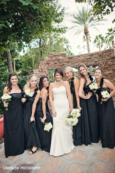 LindenLeaf Photography........... black & white wedding