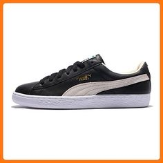 cheap for discount 75dcc 986e7 Puma Men s BASKET CLASSIC, BLACK WHITE, 9.5 M US
