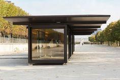 Build Container Home 474496510719820545 - Le pavillon modulable Bouroullec Container Home Designs, Container Cafe, Container Office, Container Homes, Container Gardening, Prefab Homes, Modular Homes, Plans Architecture, Architecture Design