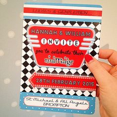 Hey, I found this really awesome Etsy listing at https://www.etsy.com/listing/212910520/retro-american-diner-wedding-invitation