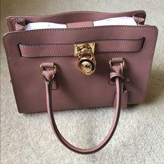 Michael Kors Hamilton handbag Soft mauve color, NWT, 100% authentic, comes with dust bag Michael Kors Bags Satchels
