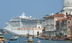 """Angela Giuffrida, """"Tempers in Venice Boil over in Tourist High Season,"""" The Guardian July As residents leave and visitor numbers soar, the city's quality of life is being eroded. This summer, irate locals have taken to the streets. World Cruise, Abandoned Ships, Cruise Holidays, Venice Travel, Cruise Destinations, Northern Italy, Most Beautiful Cities, Venice Italy, Venice Canals"""