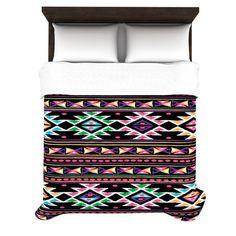 indie tribal aztec pattern duvet cover :)
