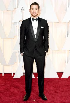 Tatum looked dreamy in a Dolce & Gabbana tux, Louis Leeman shoes, and Neil Lane cufflinks.