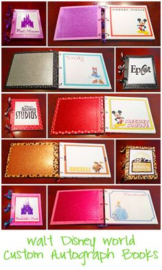Disney custom autograph books - Free printables to create your own
