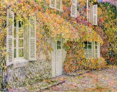 Henri Eugène Augustin Le Sidaner August 1862 – July was an intimist painter. Sidaner was born to a French family in Port Louis, Mauritius. Paintings I Love, Original Paintings, Original Art, Post Impressionism, Impressionist Art, Autumn Painting, Autumn Art, Mauritius, Painting & Drawing