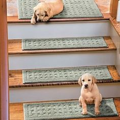 "Weave Washable Stair Treads-9"" x 29""-Set of 4 - Brown - Improvements"