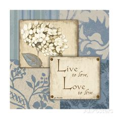 Live Love Prints by Jo Moulton at AllPosters.com