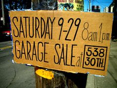 Holy Craft: Garage sale signs What not to do and how to drive traffic to your sale