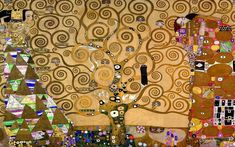 The Tree of Life [Klimt] is an important symbol in many theologies, philosophies and mythologies. It signifies the connection between heaven and earth and the underworld. This concept is illustrated by Gustav Klimt's famous mural, The Tree of Life. The mural also has another significance, being the only landscape created by the artist during his golden period. Klimt used oil painting techniques with gold paint, to create luxurious art pieces, during that time.