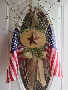 Patriotic Wreath - 4th of July Wreath - Summer Wreath - American Wreath