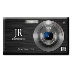 Compact Digital Camera Professional Photographer Double-Sided Standard Business Cards (Pack Of 100). Make your own business card with this great design. All you need is to add your info to this template. Click the image to try it out!