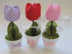 Vaso de Tulipa Única | Pespontando Baby | Elo7