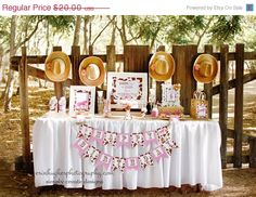 SALE Cowgirl Printable Party Package DIGITAL Cowgirl Birthday Package on Etsy, $16.00