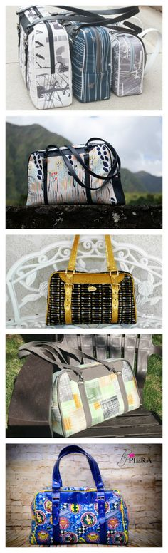 This is an awesome bag pattern that is available in 3 different sizes, from purse-sized all the way through a large bag perfect for your carry-on luggage. With buckle and purse hardware you can make this a snazzy bag, and add some optional piping for added visual interest. The Reisende Bag has a top-zip closure and two zippered pockets in the lining. If you chose this pattern it will give you the opportunity to try out some buckled straps; there are several methods within the pattern for…